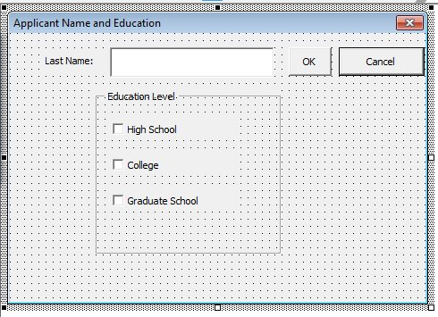 Excel check boxes 5